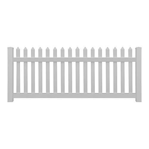 Lattenzaun, H 100 cm, L 9-27 m, Komplett inklusive Pfosten - UV-beständiger Gartenzaun aus Kunststoff - mit Rahmenverstärkung aus Aluminium (H 100 cm, L 16,2 m)