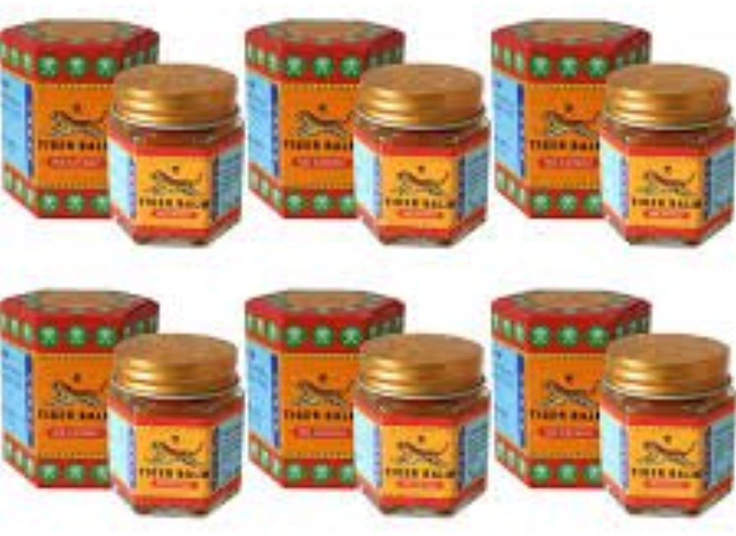 Tiger Balm Red Size 30g. Original Thai Massage 6 Big Jars for pain relief & insect bites