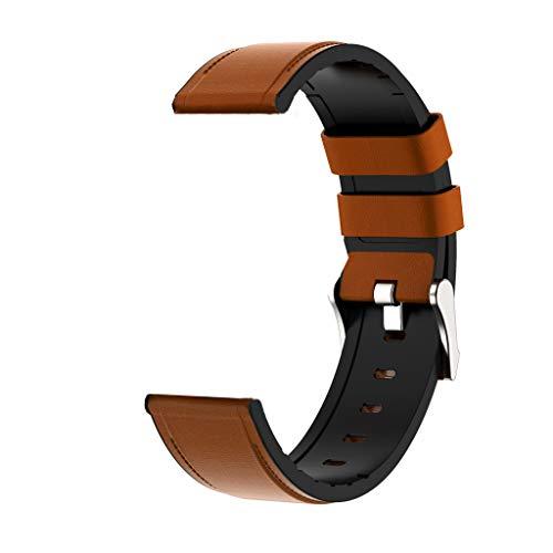 YOKING - Pulsera de piel universal de 22 mm para hombre, correa de repuesto para mujer
