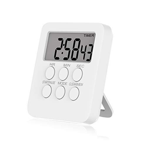 Timer Digital, Timing + Wecker + Uhr Funktion Digitale Küchenuhr Timer Stoppuhr, Küchenuhr Timer zum Kochen Backen Sport Lernen,Zeitgebererinnerung, Home-Countdown-Zeitschaltuhr