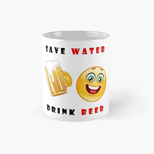 Save Water Drink Beer Classic Mug | Best Gift Funny Coffee Mugs 11 Oz