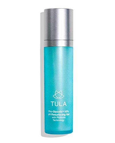 TULA Probiotic Skin Care Pro-Glycolic 10% pH Resurfacing Gel Toner   Face Toner to Gently Exfoliate and Hydrate Skin, with Proprietary Blend of Probiotics and Glycolic Acid   2.7 oz