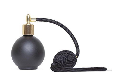 Parfum Vaporisateur 78ml Noir Mat bouteille ronde avec le gland noir et or Fitting