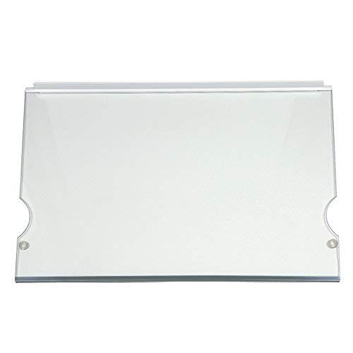 ORIGINAL Liebherr 7271962 341x480mm Ablage Einlegeboden Regal Fach Lebensmittelfachfach Glasboden Glasablage Glasplatte Absteller Einschub Kühlschrank Kühl-Gefrier-Kombination
