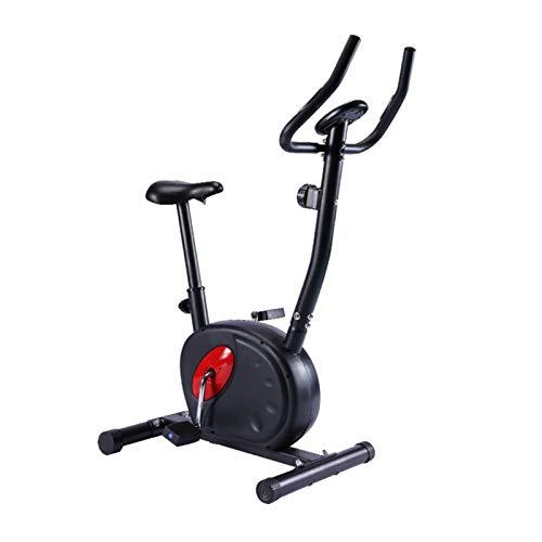 DDXY-Bicicleta de Ciclismo Interior de Ejercicio, Transmisión por Correa de Volante de 4 Kg con 8 Niveles de Resistencia para Entrenamiento Cardiovascular en Bicicleta en Casa,Negro