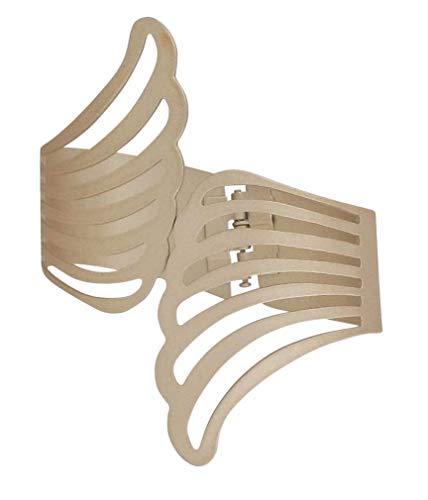 Evideco L24003102 - Alas de Metal para Atar, diseño de ángel, Color Blanco Brillante