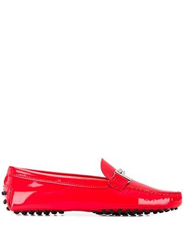 Tod's Luxury Fashion Damen XXW00G0Q499OW0R204 Rot Leder Mokassins | Frühling Sommer 20