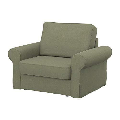 Soferia Funda de Repuesto para IKEA BACKABRO sillón, Tela Elegance Taupe, Beige