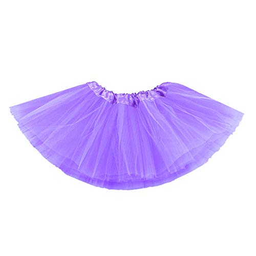 belababy Baby Tutu Skirt, Infant Tutus, 5 Layers Tulle Dress Up for Baby Girls &Toddlers Light Purple