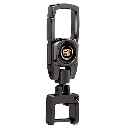 Car Keychain for Cadillac Escalade Cts Ctsv SRX ATS Deville Xt5 Xts DTS Eldorado V Sturdy Key Chain with Logo