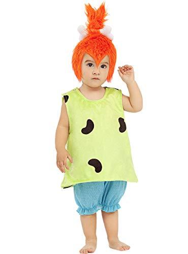 Funidelia | Disfraz de Pebbles - Los Picapiedra Oficial para bebé Talla 1-2 años ▶ The Flintstones, Dibujos Animados, Los Picapiedra, Cavernícolas