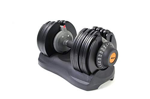 Athlyt Unisex's 32.5KG ADJ Adjustable Dumbbell, Black & Orange, M