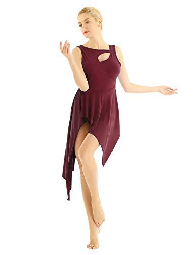 iiniim M/ädchen Overall Fledermaus/ärmel Ballettanzug Fitness Sport Bodysuit Tanzbody Gymnastikanzug Tanzkleidung