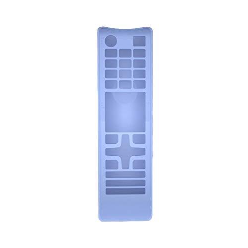 Viudecce Funda de Silicona Cubierta Protectora del Control Remoto Adecuado para TV BN59 AA59 Series Control Remoto Azul Luminoso