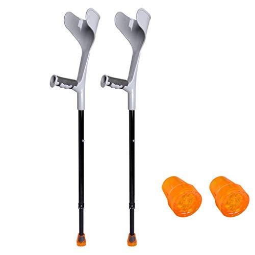 QULONG ErgoDynamic antebrazo muletas por Health 1 par / 2 muletas/más Ligero Muleta, Heavy Duty para Standard y Adultos Altos, de Aluminio Ligero