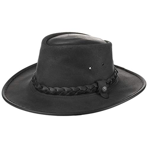 BC Steerhide Bac Pac Traveller Hut by BC HATS (L/58-59 - schwarz)