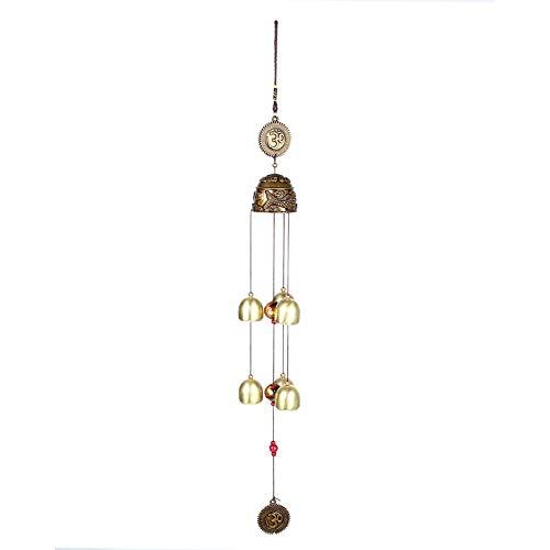 KSTE Windspiele - Vintage Blätter Elephant Auspicious Hanging Ornament, viel Glück Feng Shui Bronze Farbe Glocken, Windspiele China Home Decor (Farbe : Auspicious)