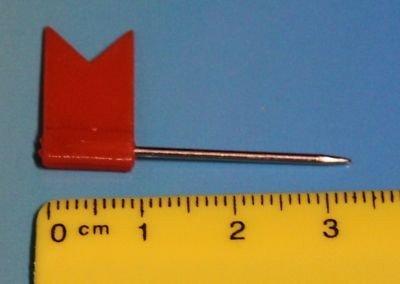 Épingles drapeaux épingles drapeaux makiernadeln kartennadel tableau 31 mm-lot de 50 31 mm-orange-lot de 50