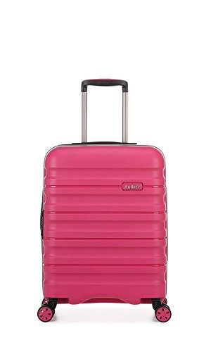 Antler Juno II Brights, Durable & Lightweight Hard Shell Suitcase - Colour: Pink, Size: Cabin