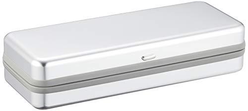 テーシーケース メガネケース シルバー ハード バネ 蝶番 アルミ YU-6003-31