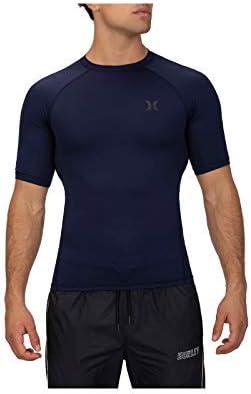 Hurley Men's Standard Short Sleeve Pro Light Quick Dry Sun Protection Rashguard Shirt