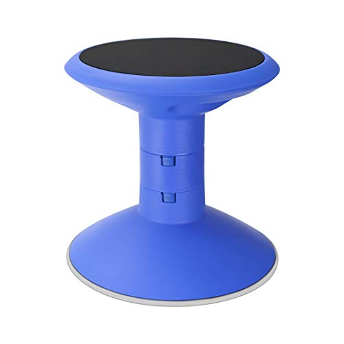 "Storex Wiggle Stool, Adjustable Height 12"", 14"", 16"", or 18"" for Active Seating in The Classroom, Blue (00301U01C)"