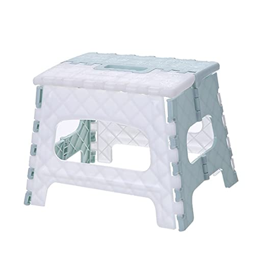 Mountainsea Taburete plegable, silla, playa, baño, cocina, oficina, jardín, camping, pesca, taburete al aire libre (color azul)