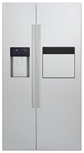 Beko GN 162431 ZX Kühlschrank Side-by-Side / A++ / 179 cm / 370kWh/Jahr / 368 L Kühlteil / 176 L Gefrierteil / No Frost / Multifunktionsdisplay mit Sensortasten / Antibakterielle Türdichtungen / Antibakterieller Filter / Umluftkühlung / Everfresh+ Schublade mit Active Fresh Blue Light / LED-Innenbeleuchtung / Automatische Abtauung / 0 °C-Zone / Spender für Wasser, Eiswürfel und crushed Eis