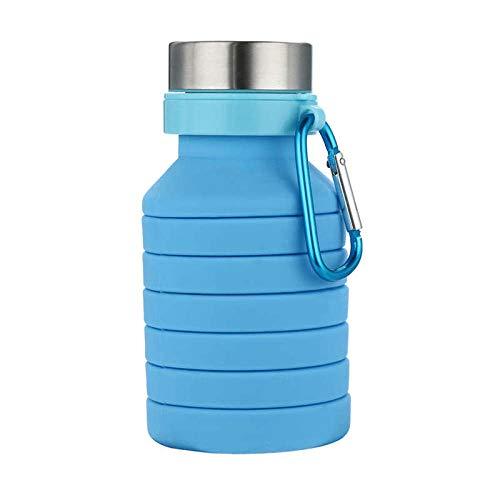 MOLUO SONGYANG 1x Silicona Plegable Viaje portátil Deportes al Aire Libre Tazas retráctiles Café Té Cerveza Jugo Leche Botella de Agua Vaso @ C