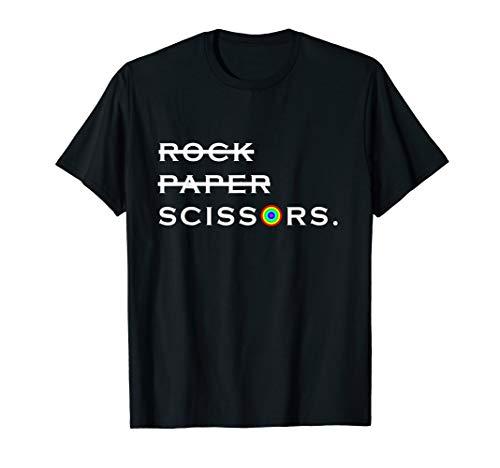 Rock Paper Scissors Lesbian LGBT International Lesbian Day T-Shirt