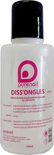 Dissongles Pure 100 ml, dissout les faux ongles, PURENAIL