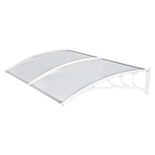 Aohuada Techo para puerta de color blanco, toldo para el techo delantero y exterior (240 x 80 cm)