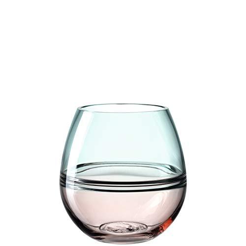 LEONARDO HOME 041588 Vase ARONA 17 cm rose/türkis, Glas
