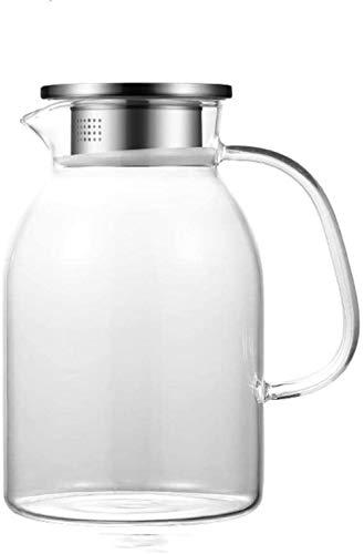 Tetera Jugo de la tetera l Bidón de jarro con la tapa de la botella de agua de la jarra-Libre, tarro de cristal de agua de la jarra - BPA del Jarro de cristal y el agua de la jarra de té Jug Boquilla
