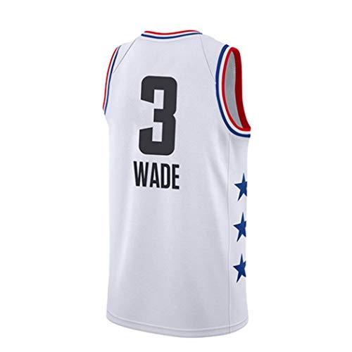 YSA NBA Global Star Uniforms 2019 Camiseta de Baloncesto para Hombre Camiseta Nueva sin Mangas Neutral de Tela Uniforme de Baloncesto Swingman