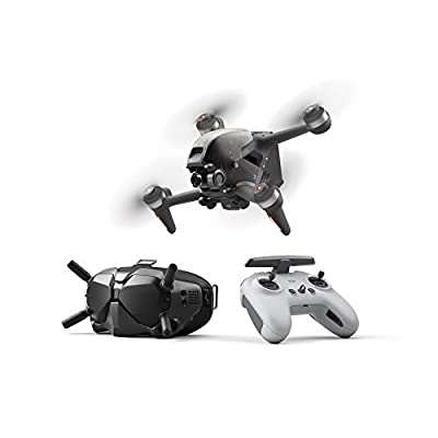 DJI FPV Combo- First-Person View Drone Flycam Quadrocopter UAV, 4k Video, Super-Wide 150° FOV, Immersive Flight Experience, HD Low-Latency Transmission, Emergency Brake and Hover, Gray