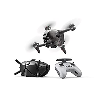 DJI FPV Combo - First-Person View Drone UAV Quadcopter with 4K Camera S Flight Mode Super-Wide 150° FOV HD Low-Latency Transmission Emergency Brake and Hover Gray