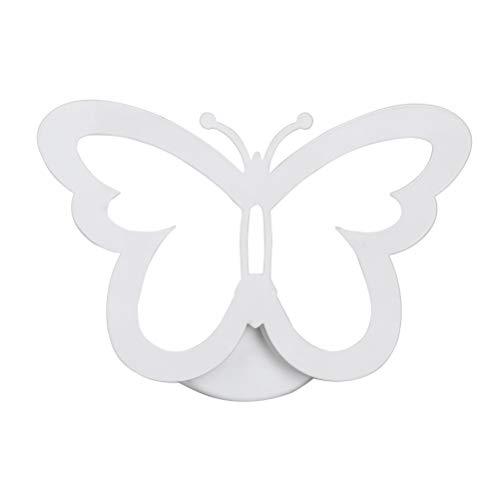 mobe STech avanzada de mariposas led lámpara de pared, 12W creativo Portal de luz para interior hogar de dormitorio de sala de decoración de color blanco cálido