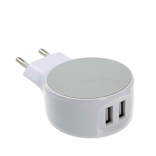 pedkit Enchufe de la UE, Enchufe de la UE 2 Puertos Cargador USB Adaptador de Pared Adaptador de la UE 5V 2.1A Reemplazo para iPhone