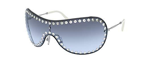 miu miu Occhiali da sole MU 51VS 1BC4R2 occhiali Donna colore Argento lente blu taglia 40 mm