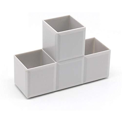 Caja de almacenamiento de 3 compartimientos Moda Desktop Fight Fight Inserted Funda de lápiz Holder Organizador para la oficina de la escuela Inicio (Color : Gray)