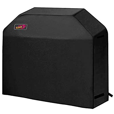 VicTsing Grill Cover, 58-Inch Waterproof BBQ Cover, 600D Heavy Duty Gas Grill Cover for Weber, Brinkmann, Char Broil, Holland and Jenn Air (Dust & Water Resistant, Weather Resistant, Rip Resistant)