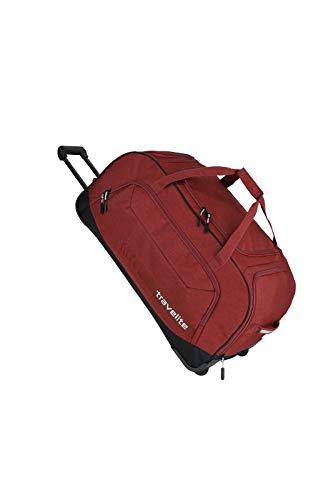 travelite Trolley Reisetasche Größe XL, Gepäck Serie KICK OFF: Praktische Reisetasche mit Rollen für Urlaub und Sport, 006911-10, 77 cm, 120 Liter, rot