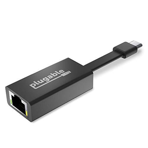 Plugable USB C Ethernet-Adapter, schnelle und zuverlässige Gigabit-Geschwindigkeit, Thunderbolt 3 zu Ethernet-Adapter, kompatibel mit MacBook Pro, Windows, macOS und ChromeOS