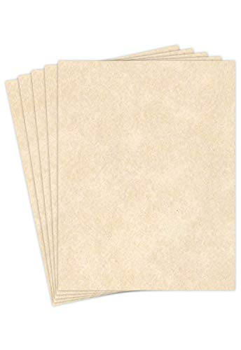 Natural Imitation Parchment Paper � Great for Writing, Certificates, Menus, Brochures and Wedding Invitations | Premium Quality 24Lb Paper | 8.5 x 11� Letter Size | 50 Sheets per Pack