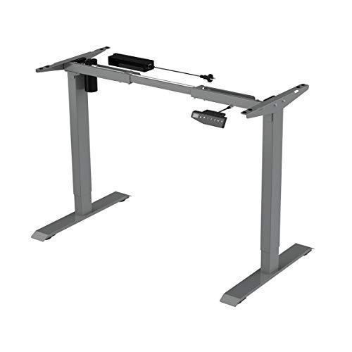 Elektrischer Schreibtischrahmen, verstellbarer Tisch, Tischgestell, Motor, höhenverstellbarer, Schreibtisch, Spacetronik SPE-124 (Grau)