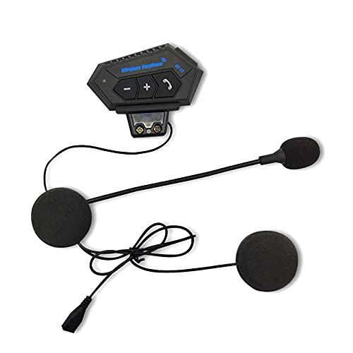 LeftSuper Auriculares Cable USB Tapas para Las Orejas + Casco Manual Auriculares Motocicleta Auriculares Intercomunicador Motor Bicicleta Auriculares Reducción de Ruido Micrófono Mic