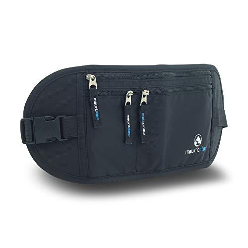 Marsupio Viaggio Portasoldi Invisibile Protezione RFID - Cintura Nascosta Sotto i Vestiti per Carte di Credito Debito e Passaporto by MountFlow