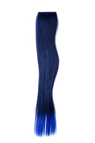 WIG ME UP - Extension 2 Clip-in mèche mélange lisse mélange de bleu-noir 45 cm/18 inch YZF-P2S18-1BTTF2517