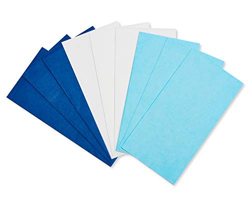 American Greetings Bulk Tissue Paper, 125-Sheets, Blues and White